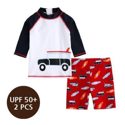 [스윔웨어] 라이더래쉬가드_2PCS(UPF50+) 유아수영복 남아래쉬가드