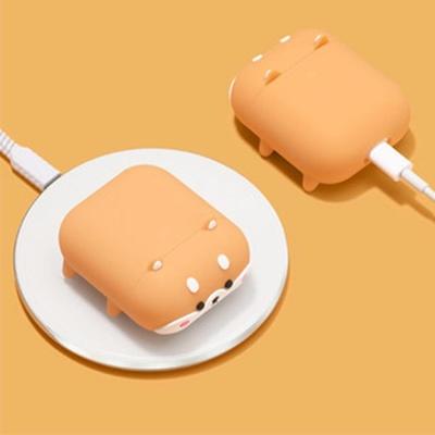 에어팟 충전 케이스 1/2/프로 귀여운 시바견 실리콘