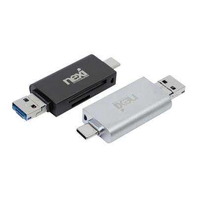 (NEXI) 넥시 USB3.0 C-Type 3in1 카드리더기 (NX886)