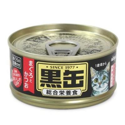 고양이 간식 캔 통조림 흑관 참치 가다랑어 80g MN