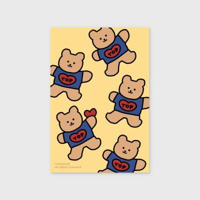 Bear heart-creamyellow(엽서)