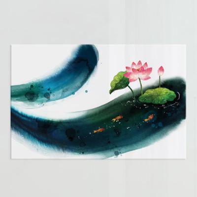 pf926-아크릴액자_연꽃과잉어(대형)