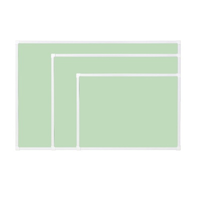[두문] 더슬림자석보드 그린 600x400mm