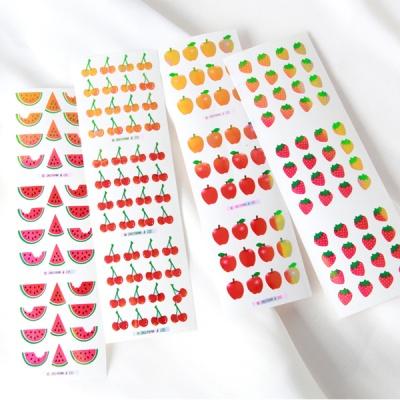 스티커펀 사과 체리 수박 딸기 오로라 스티커(st112)