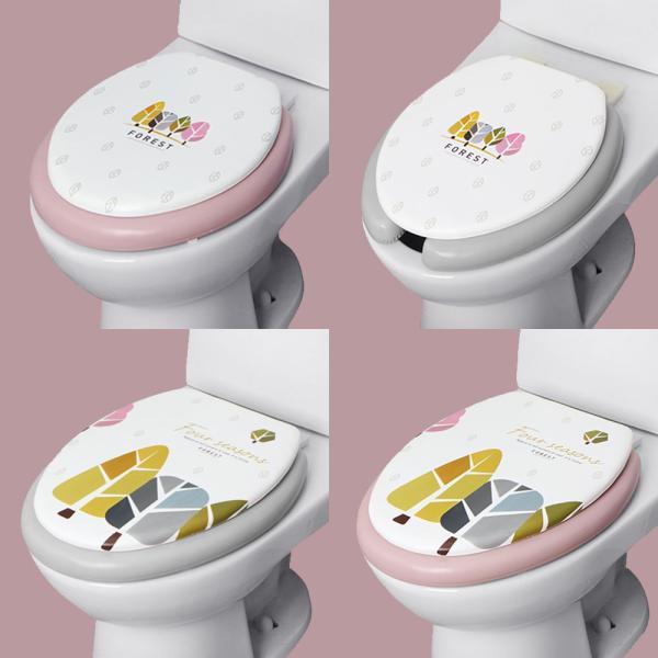 포레스트 소프트 변기커버 O형 중형 변기시트 욕실
