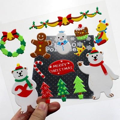 Hellow Polar Bear (크리스마스 스티커)