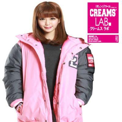 [Creams Lab] 크림스랩 정품/BASEBALL PADDING JAKET (PINK)/남여공용 패딩자켓/크림스랩 패딩/패딩점퍼/야구점퍼
