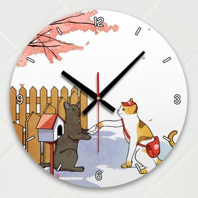 ik467-장난스런고양이시리즈3탄_인테리어벽시계