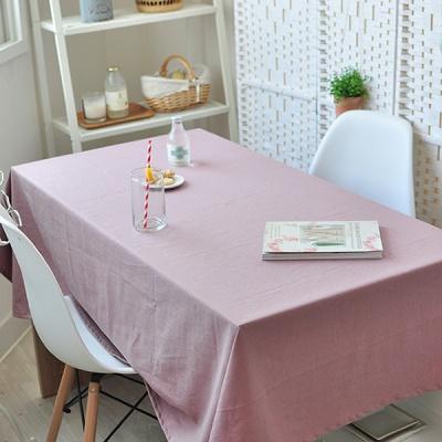 리아 린넨식탁보-핑크(대폭 2인~10인용)