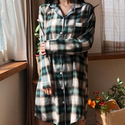 제인 빈티지 셔츠 원피스 잠옷 환절기 홈웨어