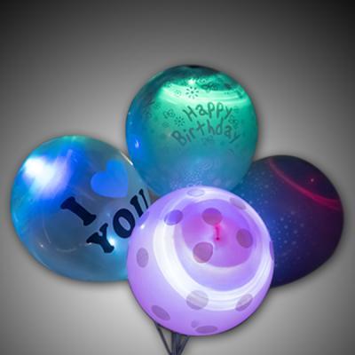 포포팬시 생일 파티 LED 풍선 일반형 4개입