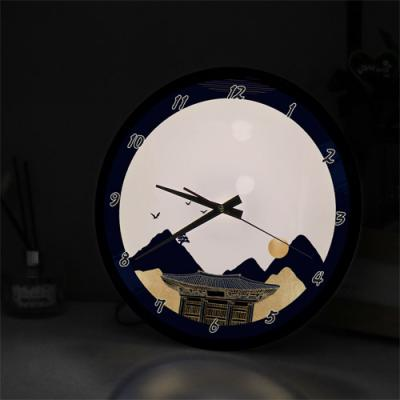 ng278-LED시계액자35R_금빛풍경화