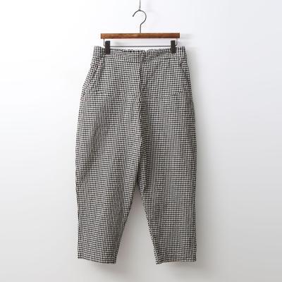 Check Cotton Baggy Pants