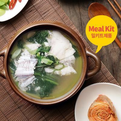 도다리쑥국 2인분 간편식(도다리+육수+쑥+된장+야채)