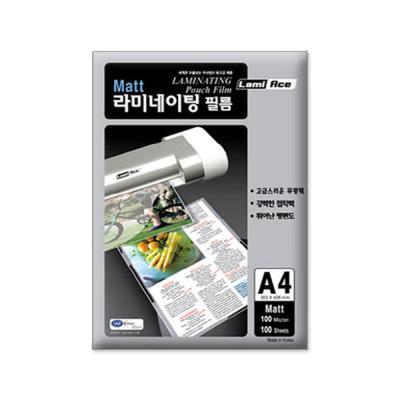라미에이스 양면무광 코팅필름 100MIC A4(100매)