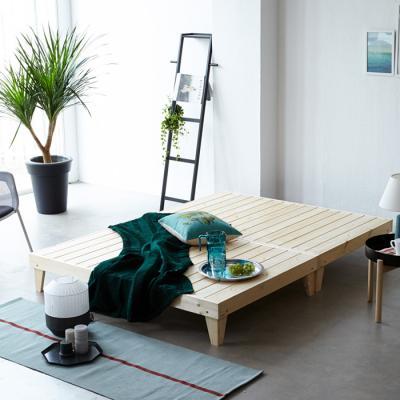 소나무 원목 침대 Q (마루형) OT065