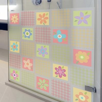 dgcn029-꽃문양 패턴5-무점착 반투명 창문 시트지