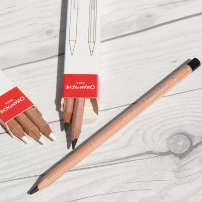 [CARAN DACHE] 까렌다쉬 전문가용 유성색연필 루미넌스 6901 블랙/화이트 낱색(3개입)