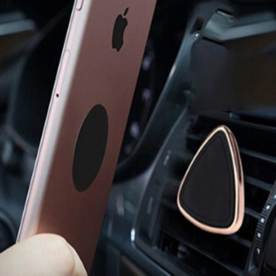 핑크돼지 송풍구 삼각 자석 거치대 W738601