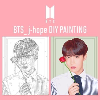 BTS J-hope DIY PAINTING 방탄소년단 제이홉 DIY 그리기 아이러브페인팅
