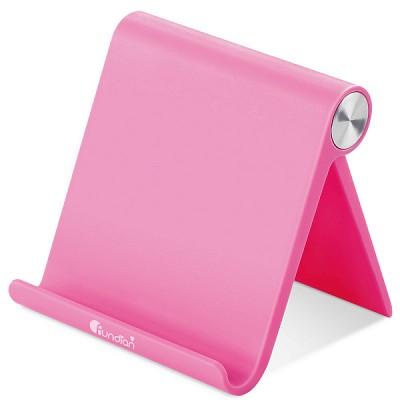 펀디안 스마트폰 태블릿 멀티앵글 폴딩 스탠드 거치대 핑크