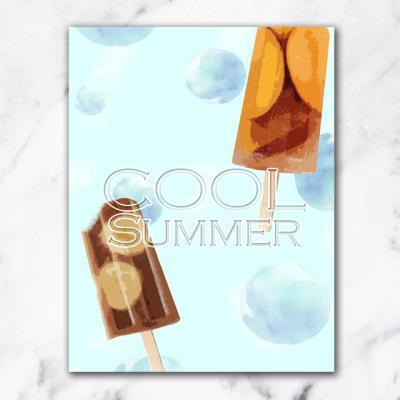 쿨썸머 아이스크림 캔버스 벽걸이 액자 11