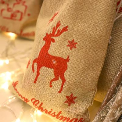 크리스마스 패브릭 선물자루 (소형 / 사슴)