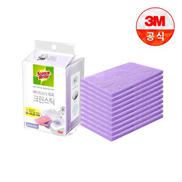 [3M]크린스틱 시트타입 욕실청소 10입