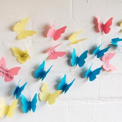 [썩유케이] 3D 나비 노트 메모잇 점착 메모지