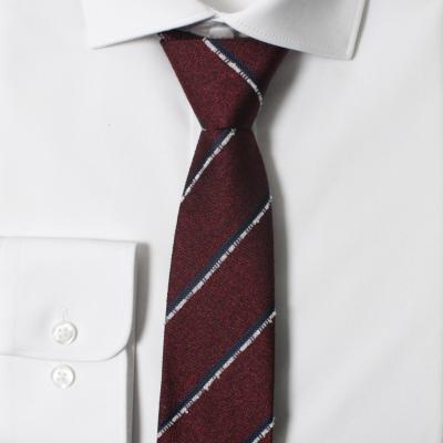 남자 자동 면접 넥타이 (스트라이프 와인)