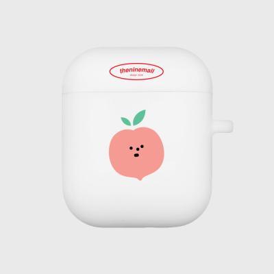 refreshing peach 에어팟 케이스[white]