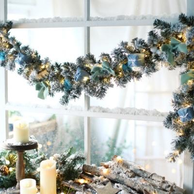 유러피안 코튼 벽걸이 트리가랜드 (1.8M) 블루