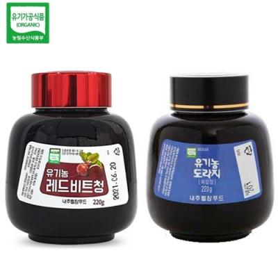 [유기가공인증] 레드비트청 220g+도라지 복합청 220g