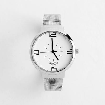 레티 남성 메탈 손목시계(화이트)