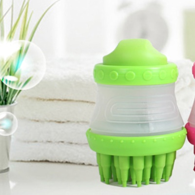 Shampoo 매직브러쉬 (그린) 실리콘 탈부착 - pt