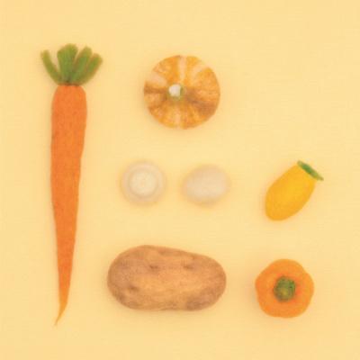하마나카 노란 채소 키트 양모펠트