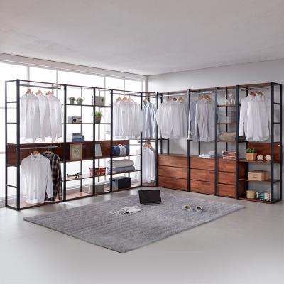 도이츠 철제 드레스룸 코너형 선반 옷장 풀세트 B형