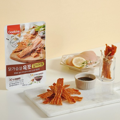 [특가상품][굽네] 닭가슴살 갈비천왕 육포 30g 10팩
