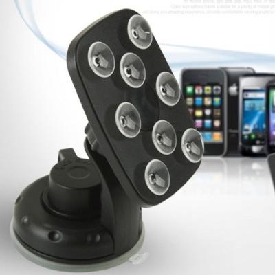 차량용 스마트폰 거치대 흡착빨판 블랙 핸드폰