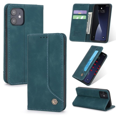 아이폰XR XS MAX/심플 가죽 카드 지갑 플립 폰케이스