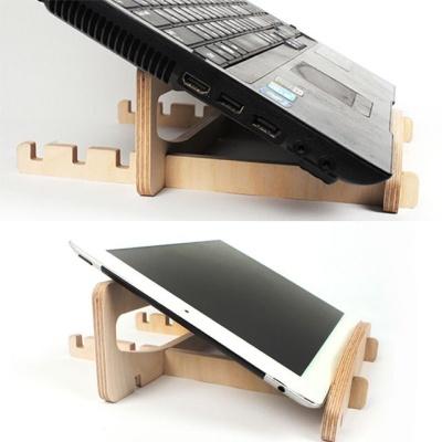 자작나무 노트북 거치대 크래들 받침대 휴대용 스탠드