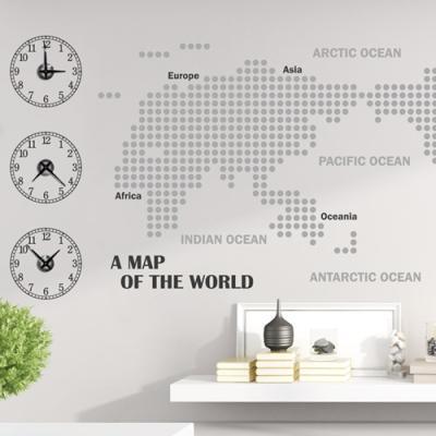 pm161-세계지도(도트)_그래픽시계(중형)