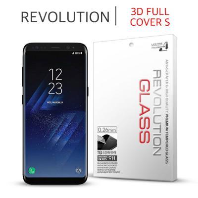 (2매) 레볼루션글라스 3D풀커버S 강화유리 갤럭시 S8
