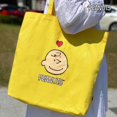 [Peanuts Bag&Acc]찰리브라운 자수에코백