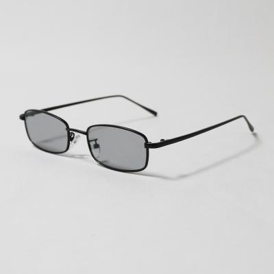 남녀 메탈 미니 직사각 선글라스 (블랙)