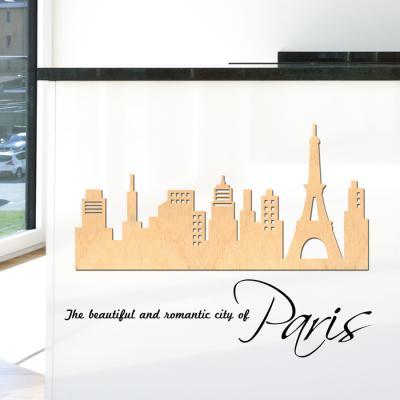 우드스티커- 파리풍경 (반제품) 시티 W485 입체포인트