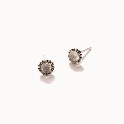 제이로렌 0M02824 6월탄생석 문스톤 실버 귀걸이