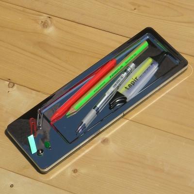 유리알처럼 투명한 크롬 펜접시-독일 HAN i-Line Chrome 펜 트레이 27650-88