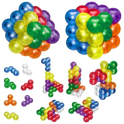 무지개 블록파츠 매직 마그네틱 큐브 블럭 퍼즐 조립