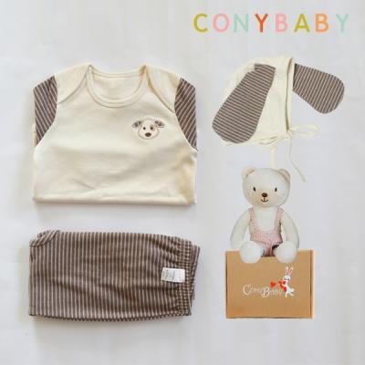[CONY]오가닉강아지4종선물세트(의류3종+꼬마곰인형)